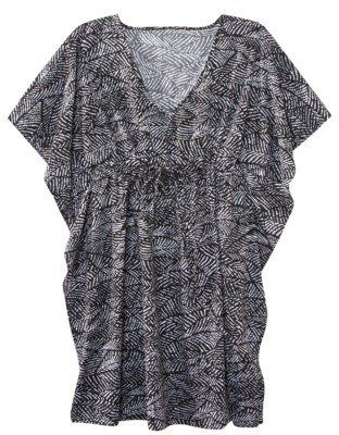 c1b37dc72c ShopStyle: Liz Lange for Target Maternity Short- Sleeve V-Neck Swim Cover-Up  - Black/White