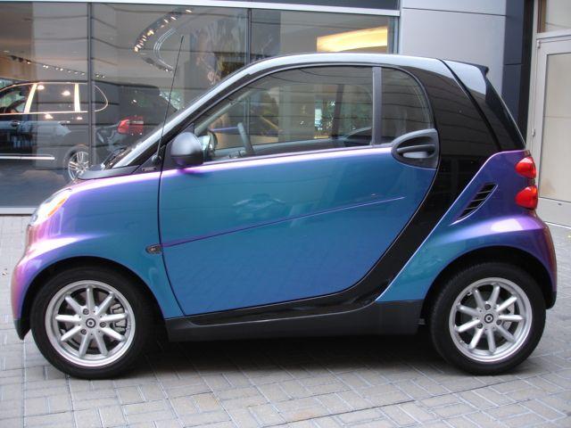 Custom Chameleon Purple Smart Car Mercedes Smart Smart Fortwo