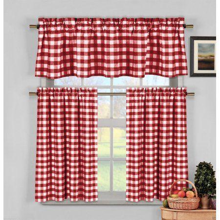 Home Farmhouse Kitchen Curtains Red Kitchen Curtains White