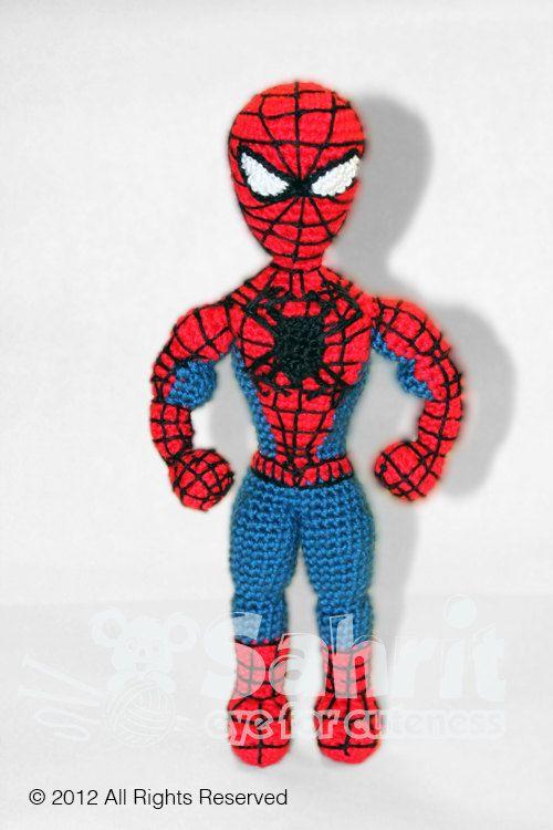 PATTERN Instant Download Spiderman Superhero Crochet Doll | Häkeln ...