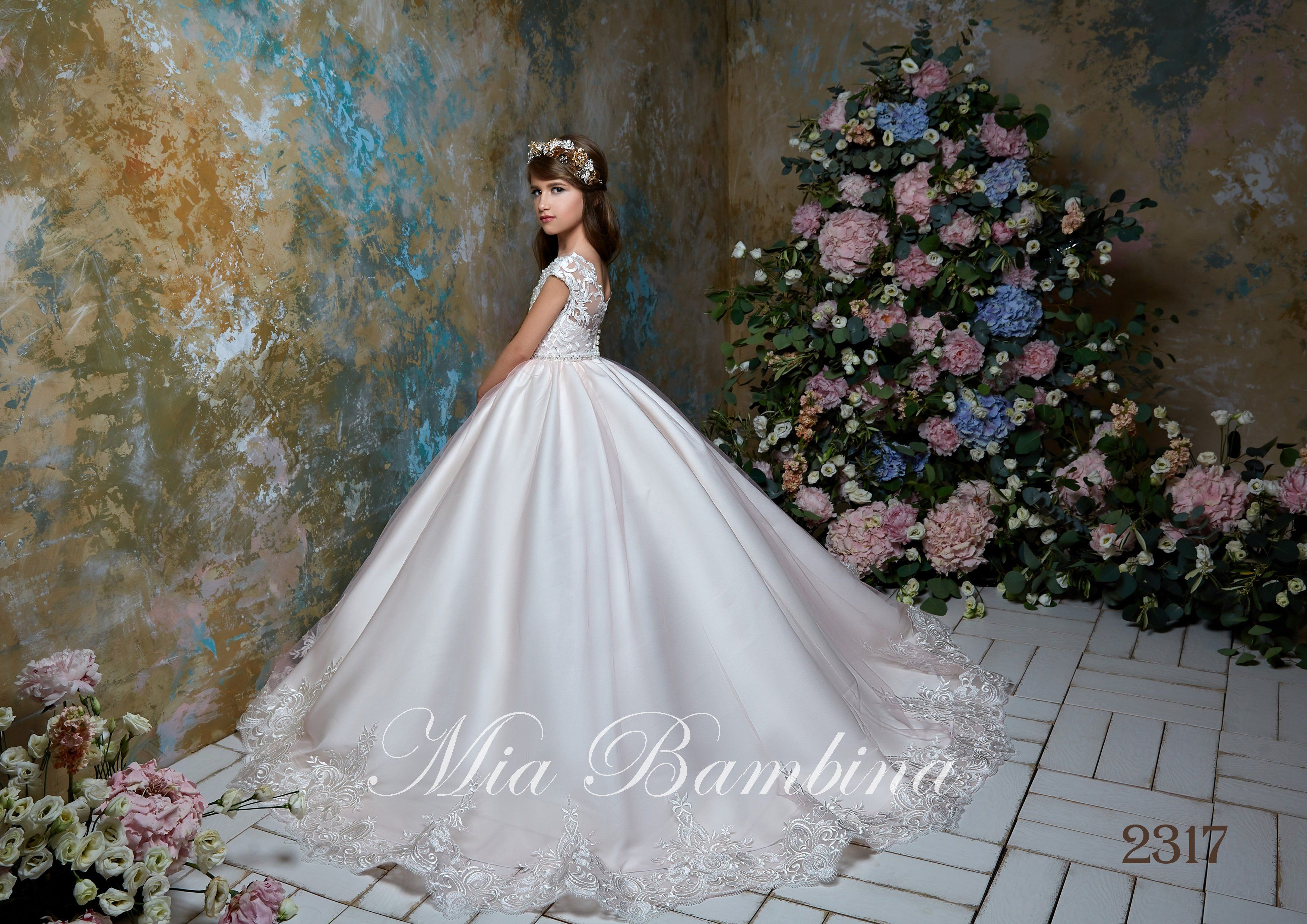 Flower Girl Dresses Junior Bridesmaid Cap Sleeves Beaded Top Tulle