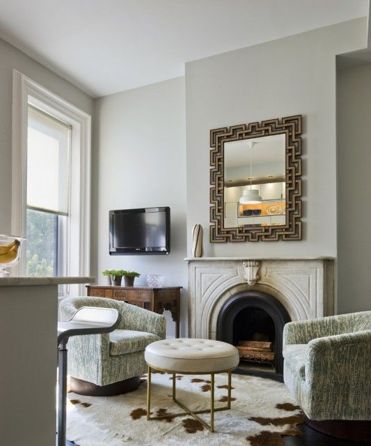 Suzie: CWB Architects   Chic, Elegant Gray Seafoam Green Living Room Design  With Soft Gray .