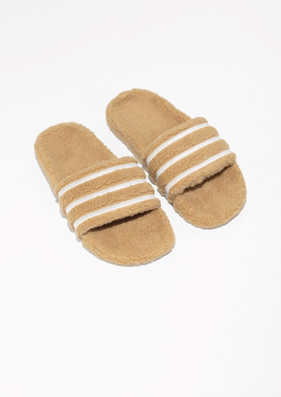 cd0f58733 & Other Stories image 2 of adidas Adilette Slides in Tan | footwear ...