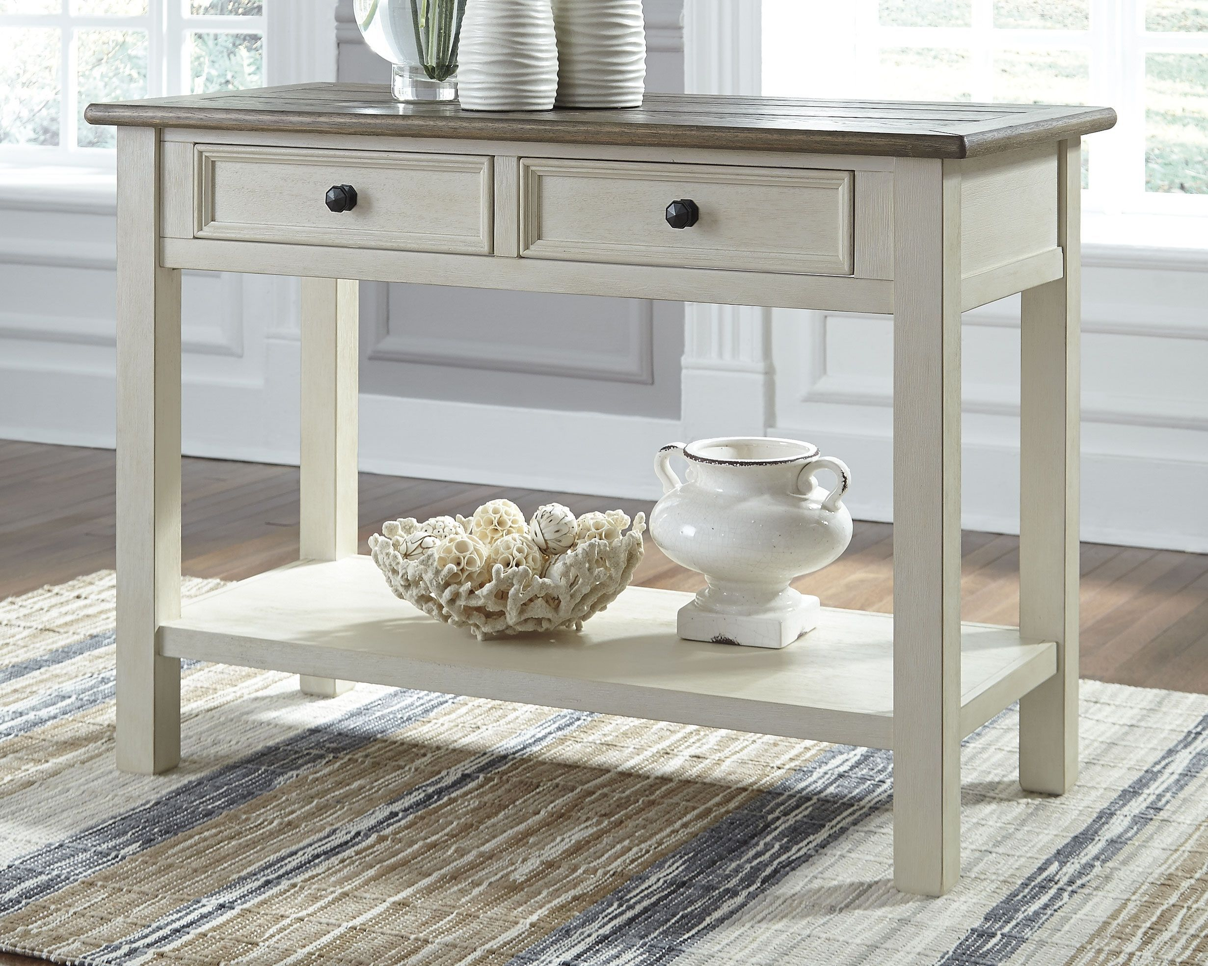 Bolanburg Sofa Console Table Two Tone In 2020 Sofa Table Ashley Furniture Furniture