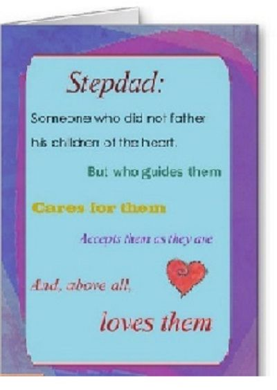 For The Upcoming Father S Day A Cards For Stepfather The Text Inside Can Be Customized Fathers Day Cards Fathers Day Cards