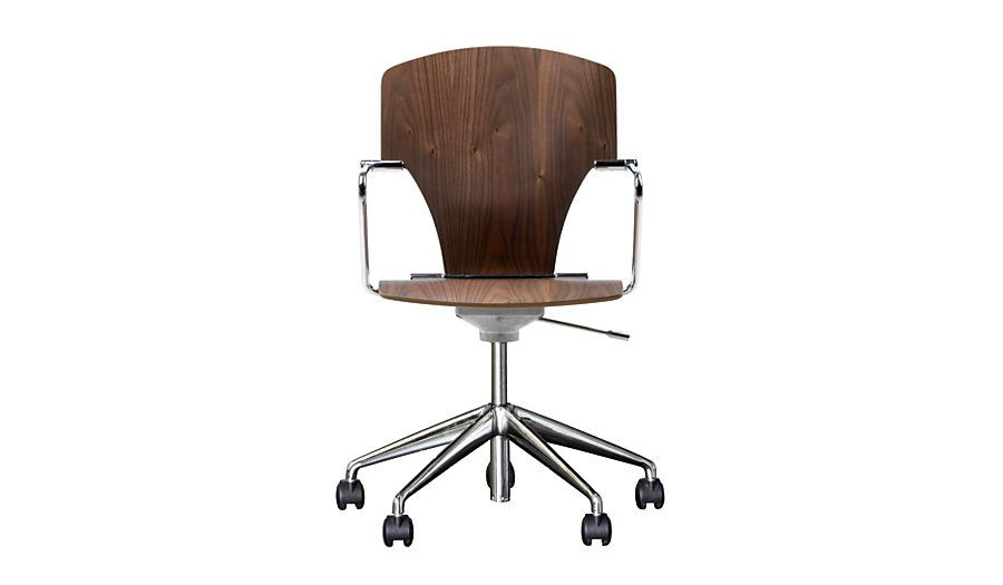 Egoa Task Chair Soft Wheels Wood Design Within Reach With