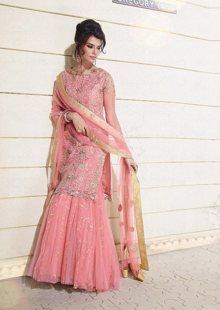 ca201a5092 Pink Zoya Net Lehenga Choli | Fancy | Lehenga suit, Choli dress, Fashion