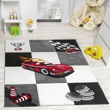 Kids Carpet Rug Car Racing Modern Bedroom Rug Children Boys ...