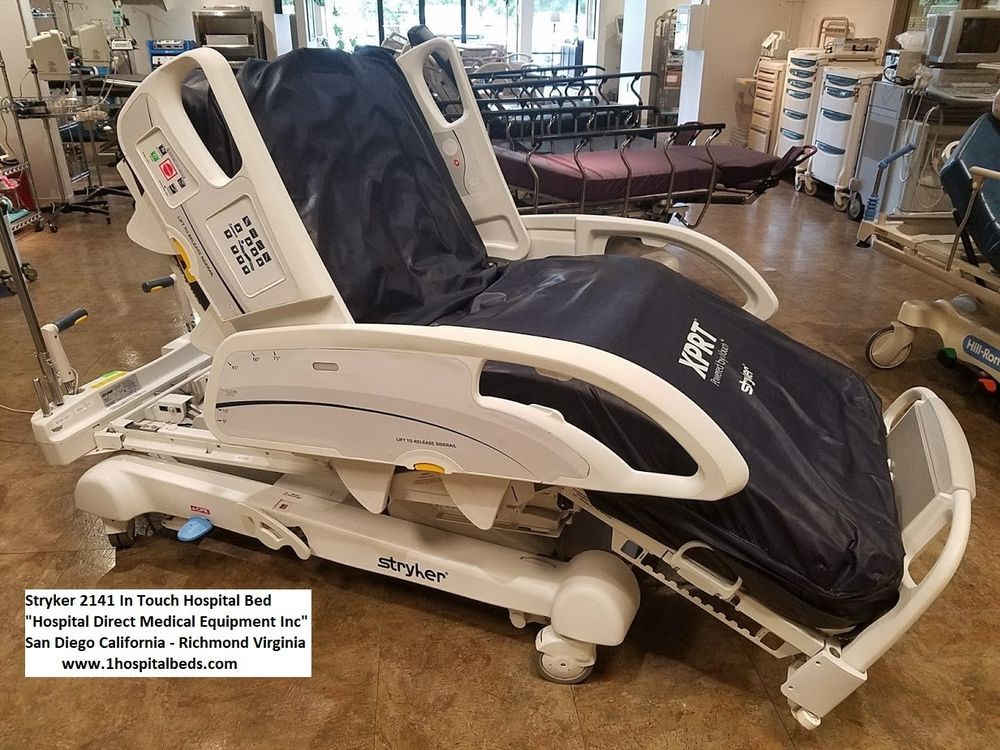 Stryker 2141 InTouch Hospital Medical Bed with Air