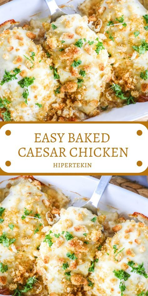 EASY BAKED CAESAR CHICKEN images