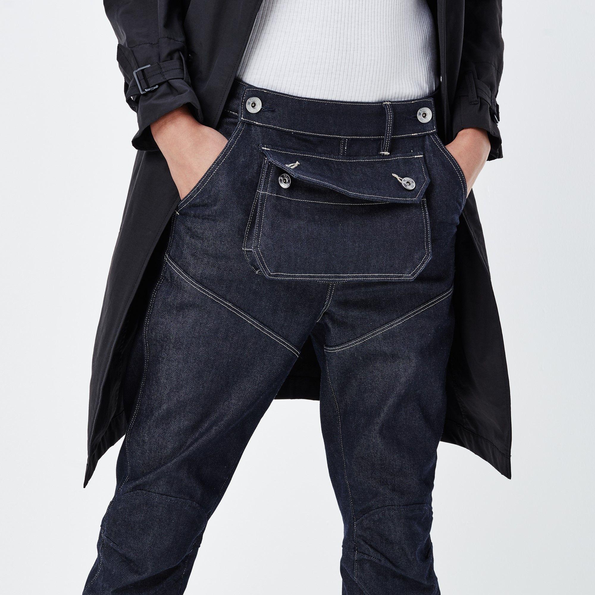 5620 G-Star Elwood 3D Pouch Boyfriend Jeans. Raw DenimBlue ...