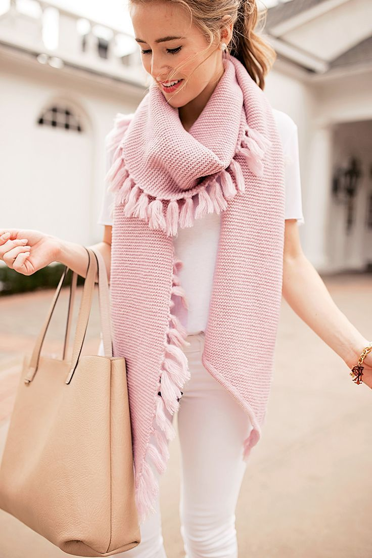 pink fringe scarf | a lonestar state of southern