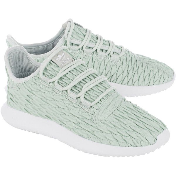 ADIDAS ORIGINALS Tubular Shadow Linen Green // Quilted synthetic... (€109) ❤ liked on Polyvore featuring shoes, sneakers, vegan shoes, green shoes, green trainers, adidas originals trainers and adidas originals sneakers