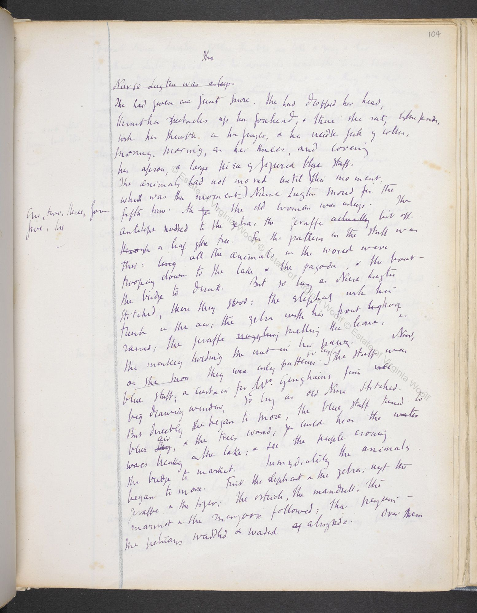 nurse lugton from virginia woolf s original manuscript of mrs  nurse lugton from virginia woolf s original manuscript of mrs dalloway 1 of
