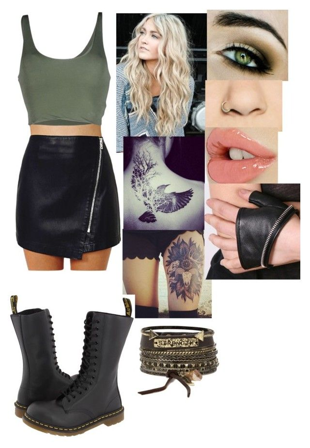 Modern huntress style (Allison Argent) by juliiuni on Polyvore featuring polyvore, fashion, style, Roque, Dr. Martens, BKE, Urstadt.Swan and modern