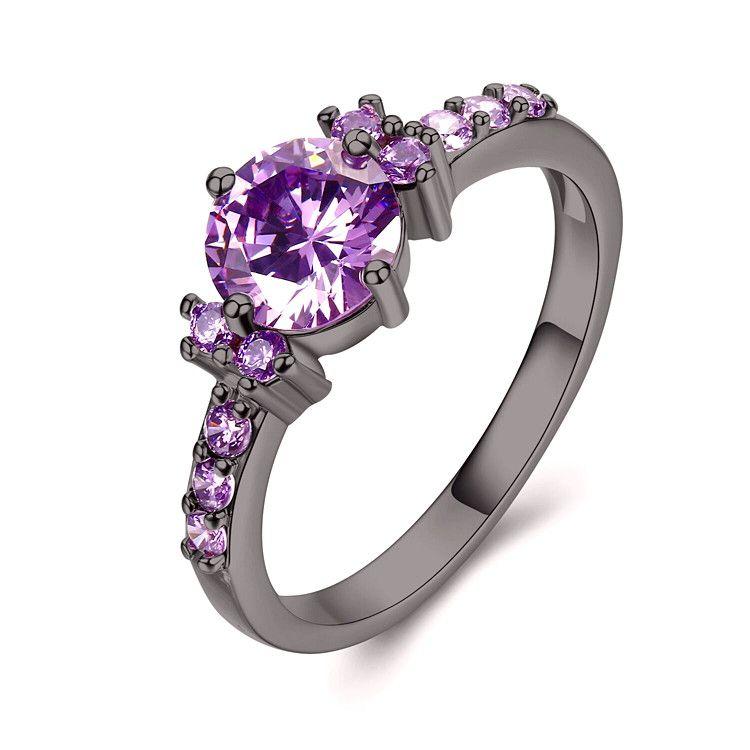 21+ Purple stone wedding rings ideas