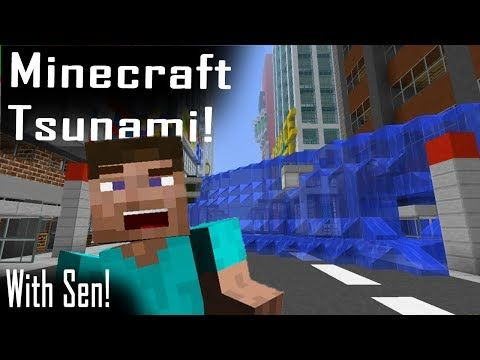 Minecraft | TSUNAMI MOD! | Entire city wiped out! - YouTube