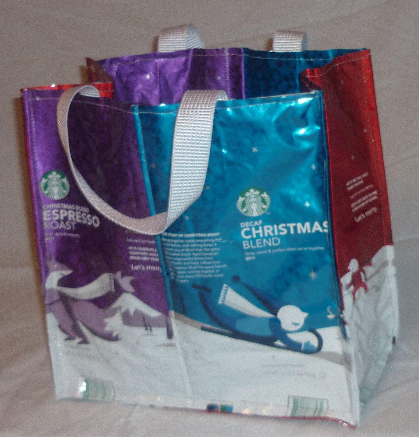 3729677d5d7f Reusable tote bag made from Starbucks Coffee Bags