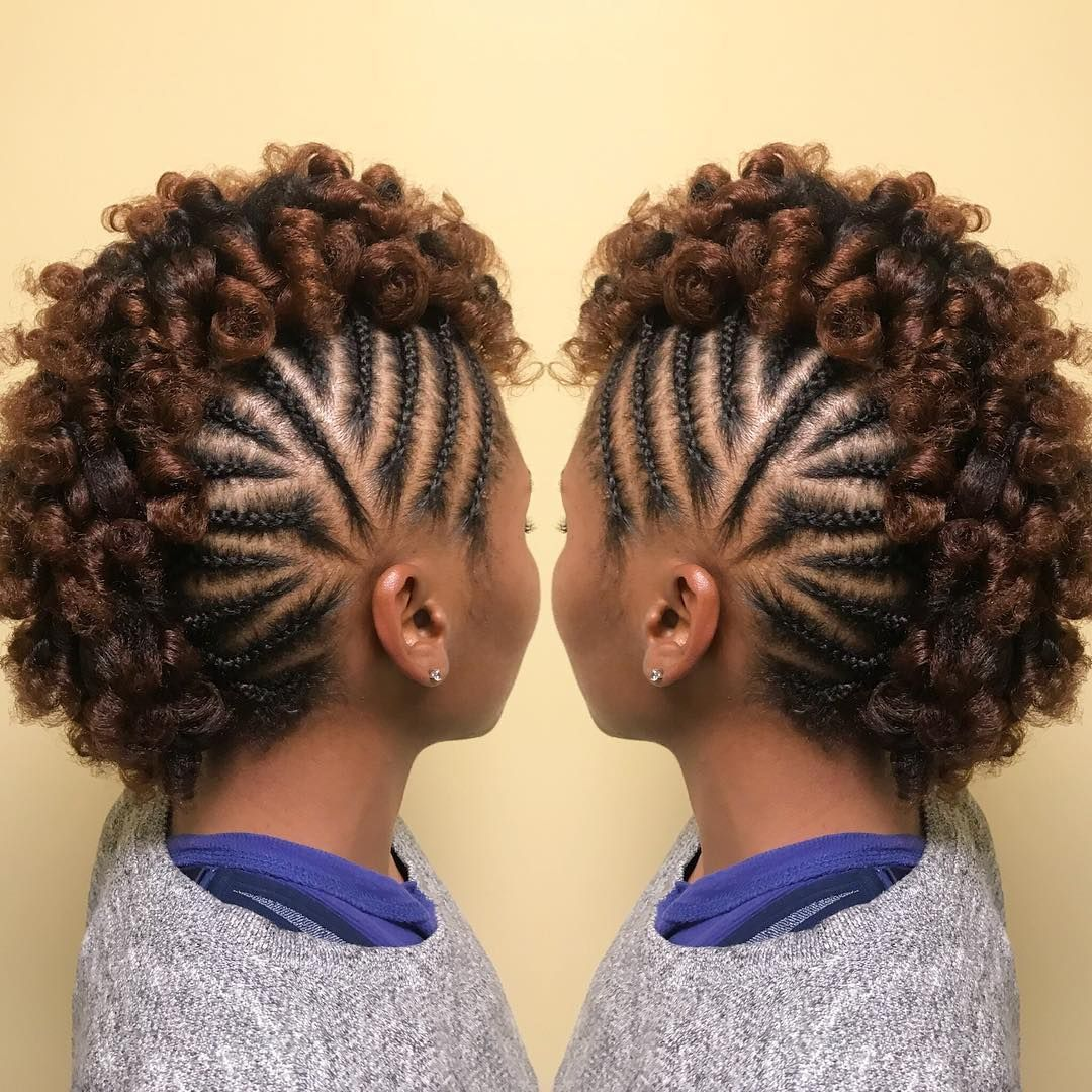 Great Frohawk Style Naturalhairmag Naturalhair Naturalhairstyles Transitioning Hairstyles Natural Hair Mohawk Natural Hair Styles