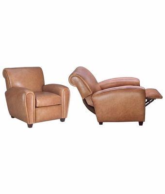 Enjoyable Baxter Designer Style Leather Cigar Chair Recliner Download Free Architecture Designs Estepponolmadebymaigaardcom