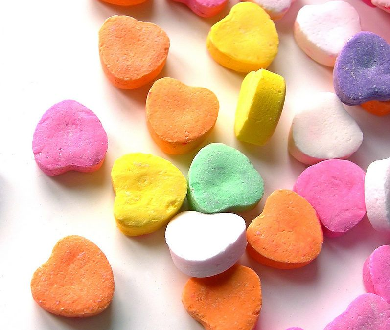 What Will Happen To Candy Hearts If We Put Them In Different Liquids