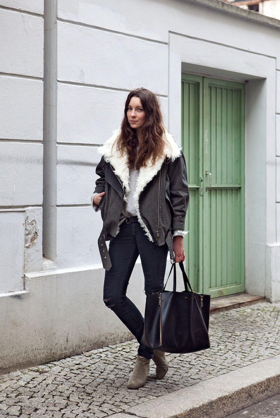 Isabel Marant Jacket // Isabel Marant Dicker Boots // Céline Cabas Bag