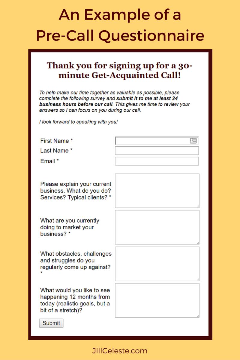 business start up survey questionnaire