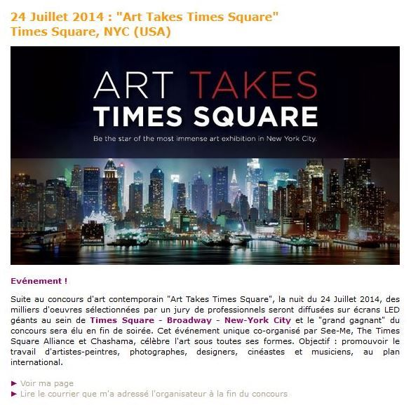 Art Takes Times Square / SeeMeTakeover 2014 - NY - USA