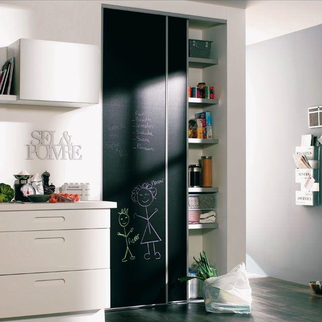portes de placard coulissantes tableau noir 250 x 180. Black Bedroom Furniture Sets. Home Design Ideas