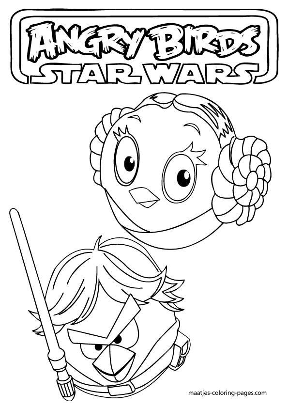 More Angry Birds Star Wars Coloring Pages On Maatjes