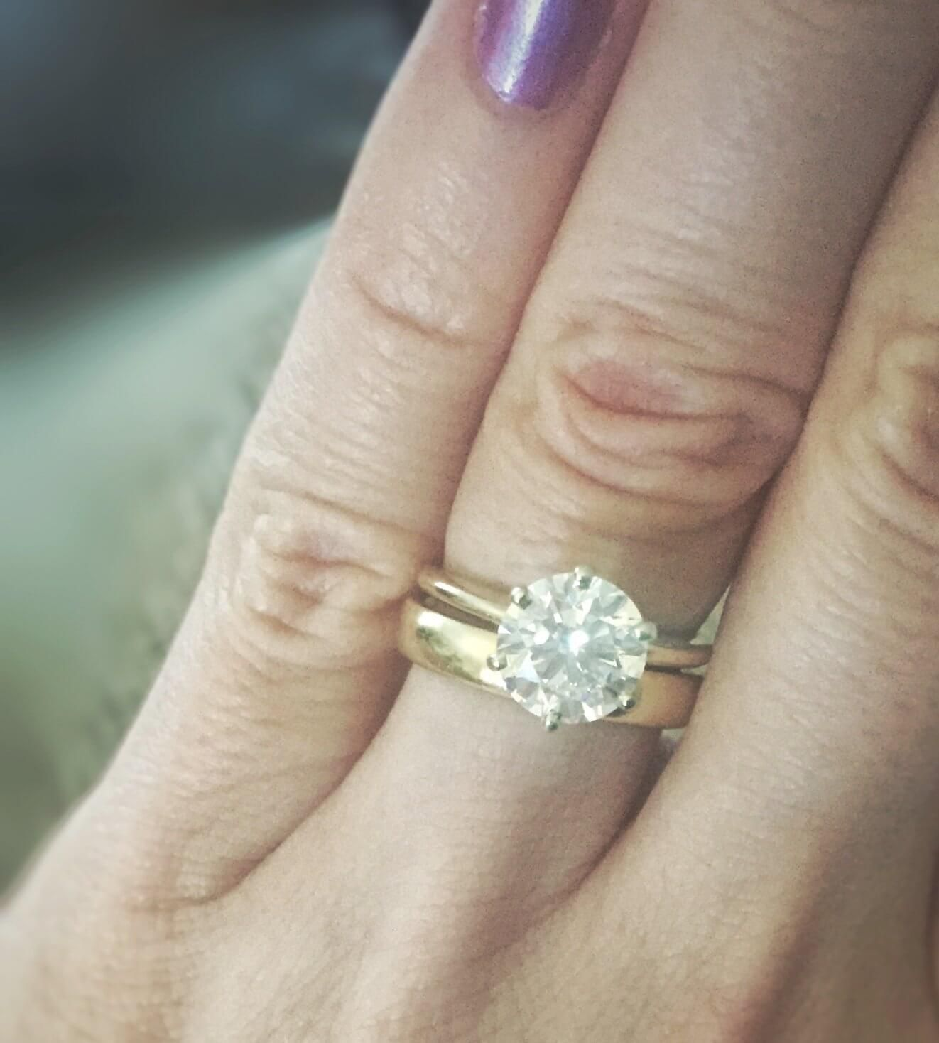 Engagement Ring And Wedding Band Combinations Wedding Inspirations