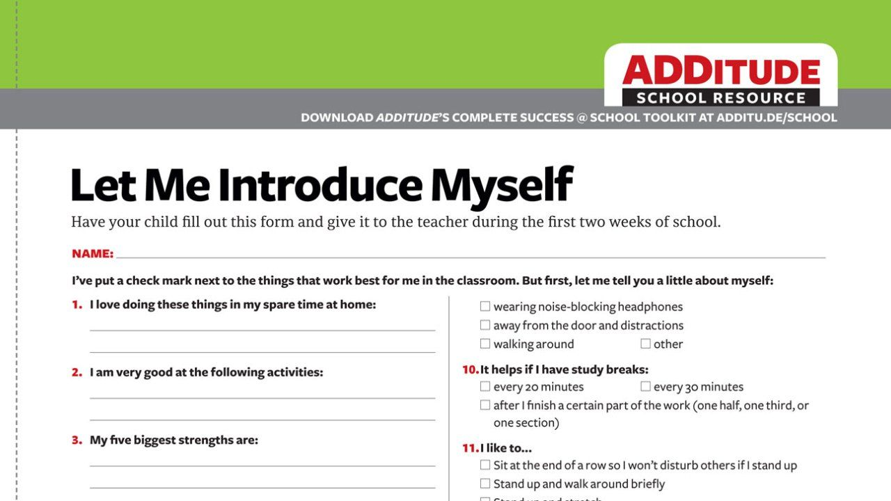 worksheet Adhd Worksheets what i wish my teachers knew about me a free template for kids every student should download and complete this introduction before school begins children with adhd