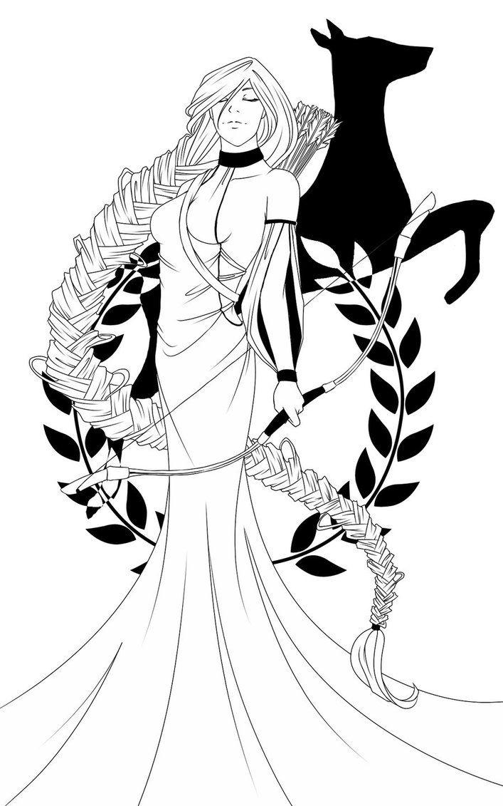 Con le sue frecce d'oro, la dea Artemide greca avrebbe portato alla morte è per questo che è stato considerato la dea della morte rapida e indolore