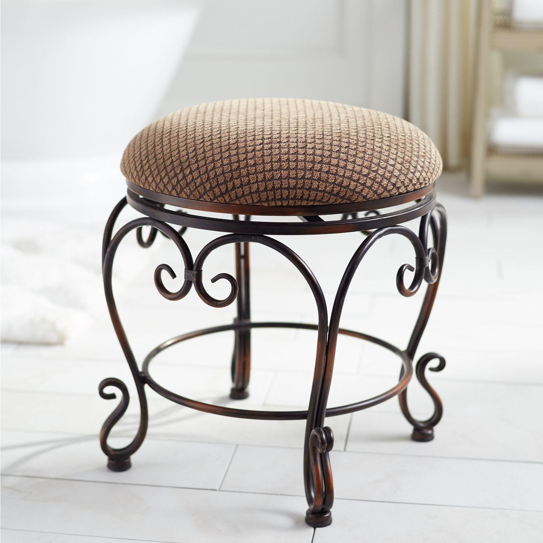 swivel vanity stool cheap aledo swivel vanity stool brown products in 2018 pinterest