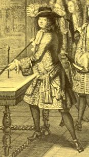 Louis XIV playing games with his courtiers
