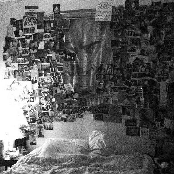 My collage behind my bed..