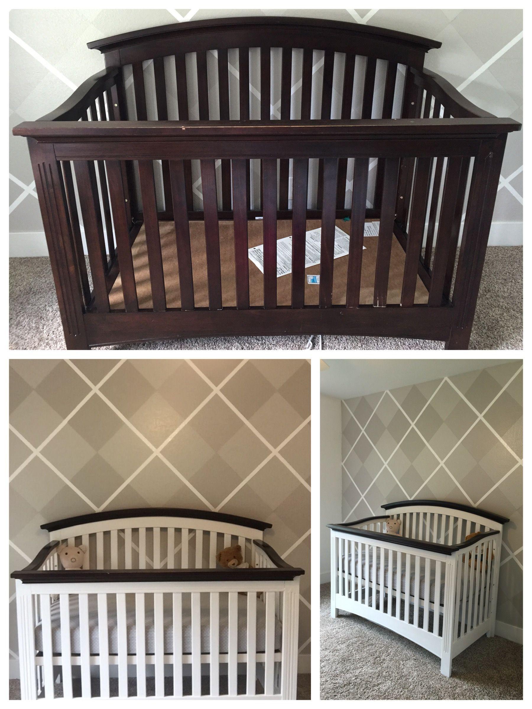 Chalk painted crib diy Painting a crib, Diy crib, Cribs