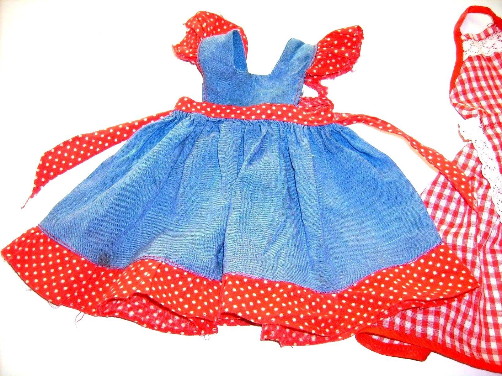 White pinafore apron ebay - A Pinafore Typed Blue And Red White Polka Dot Apron As I Can But