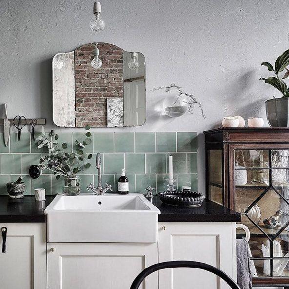 Cuisine Retro Annacate Compte Instagram Briques Rouges Evier Vintage