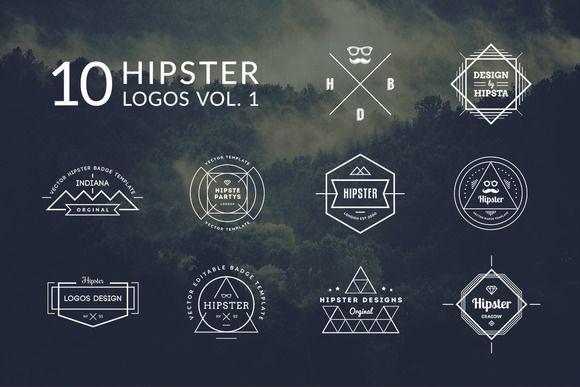 10 Hipster Logos Vol 1 - Logos Design Pinterest Hipster logo