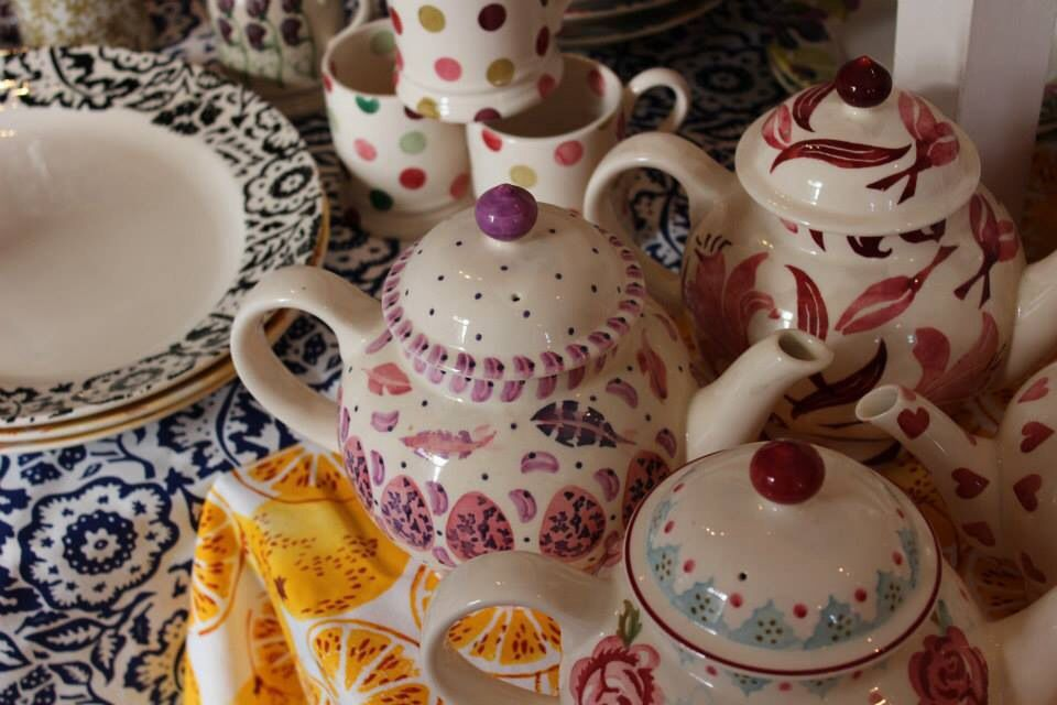 Emma Bridgewater SAMPLE teapots at the Collectors Event Sample - sample event