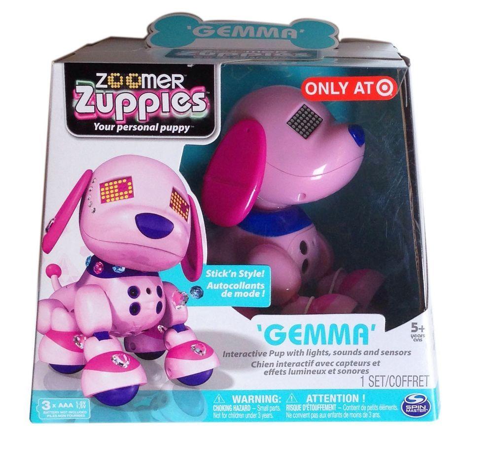 Exclusive Zoomer Zuppies Interactive Puppy Gemma Pink Robot Dog