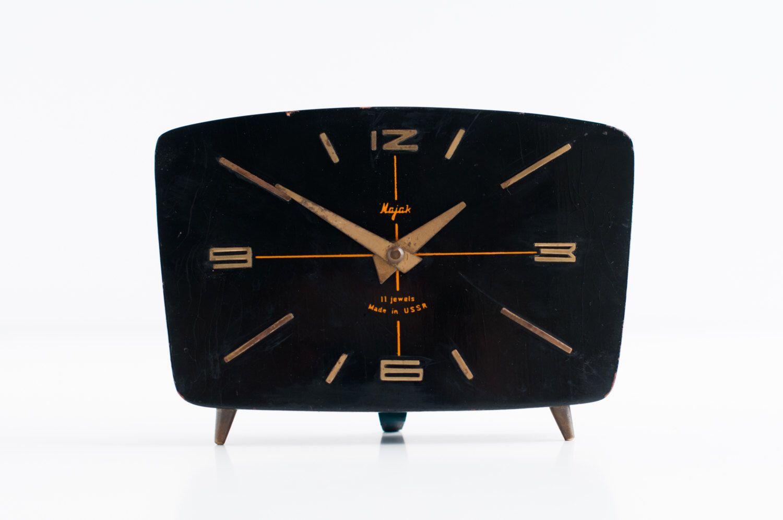 Vintage table clock soviet mechanical clock russian clock vintage table clock soviet mechanical clock russian clock mayak table clock working amipublicfo Images