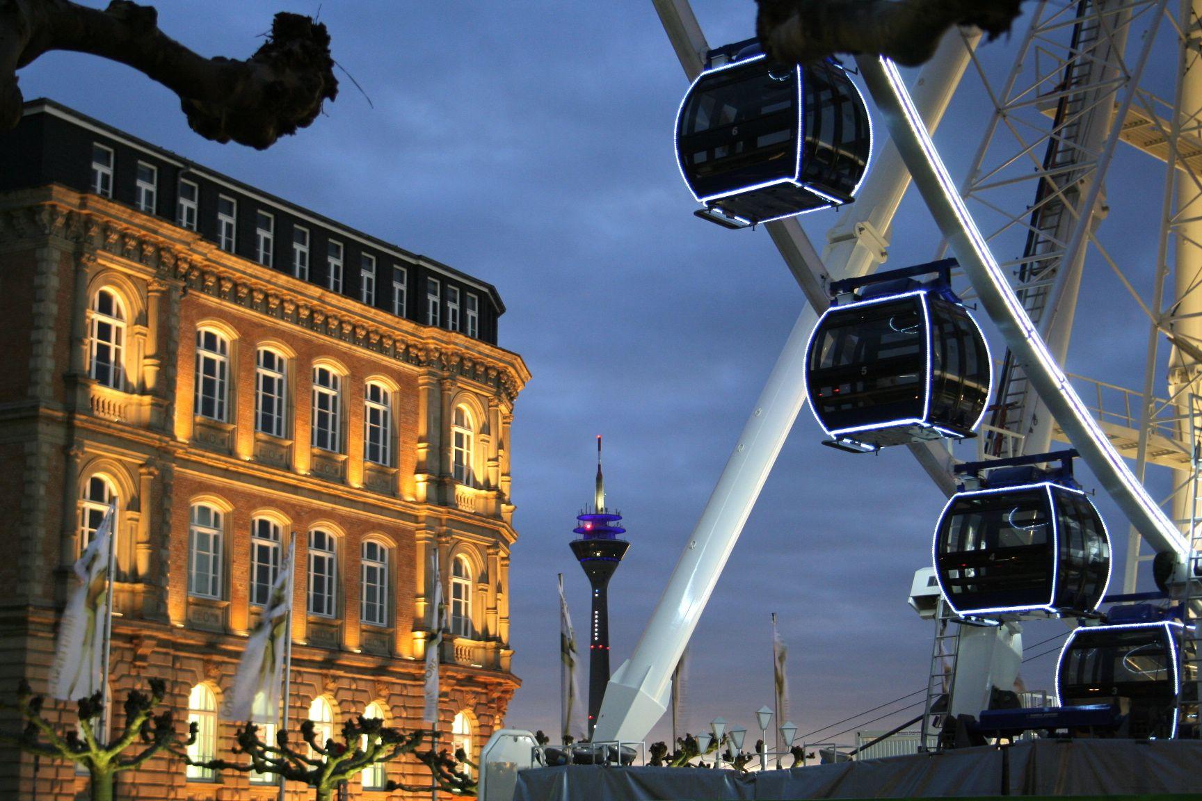 Riesenrad / Fernsehturm Düsseldorf