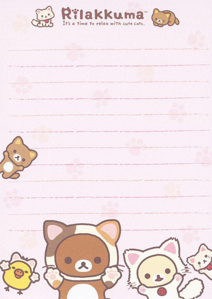 Cute Notepad Wallpaper San X Rilakkuma Quot Cat Quot Memo Pink Notepad Memo Notepad