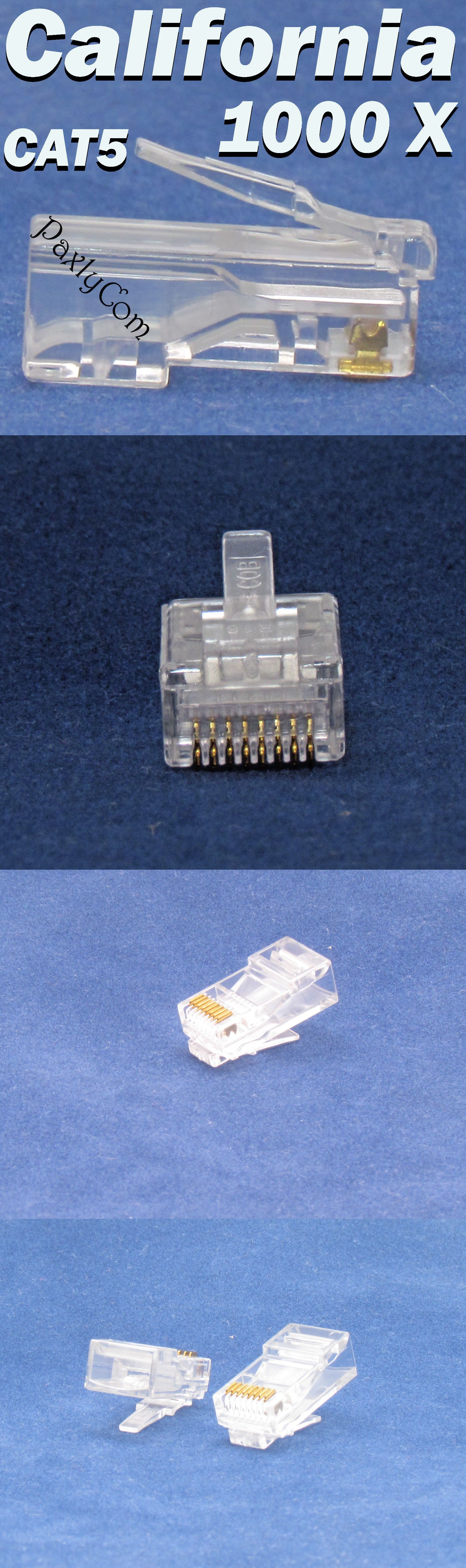 small resolution of plugs jacks and wall plates 67279 1000 x rj45 end plug cat5 cat5e modular lan connector internet ethernet cable 8p buy it now only 17 35 on ebay