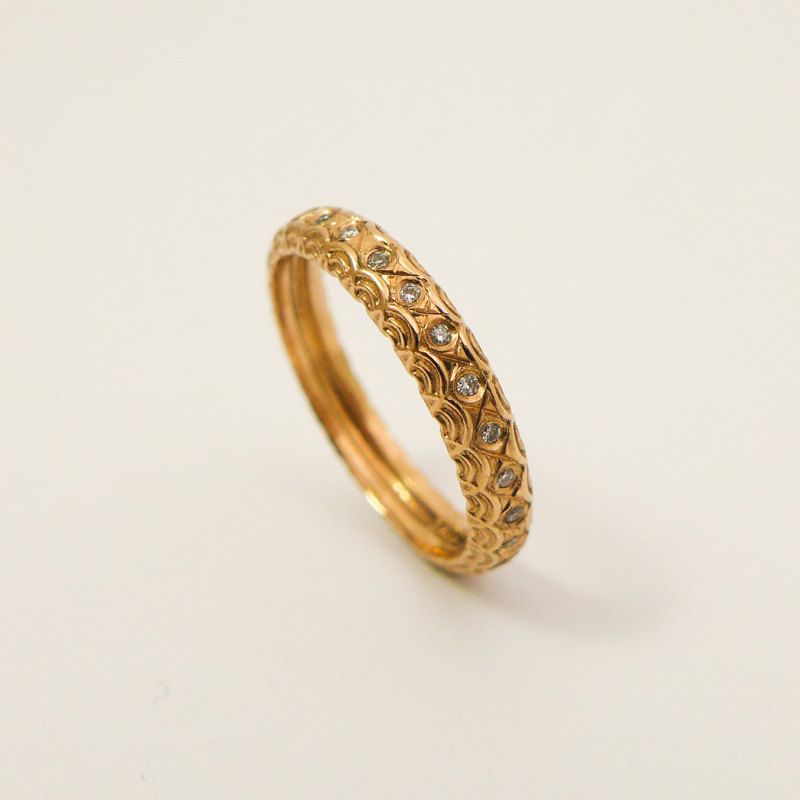 Ready To Ship Size 5 5 Us Unique Engagement Ring 14k Rose Gold