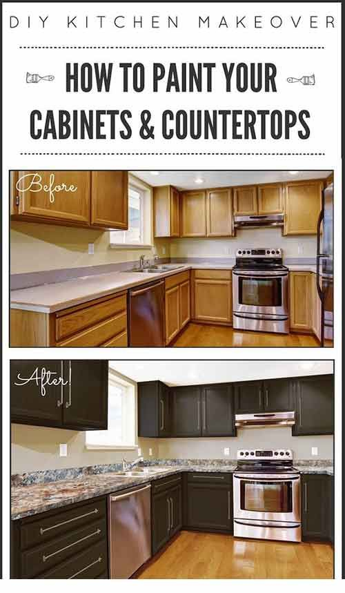 How To Paint Paint Kitchen Cabinets And Countertops Cabinets And