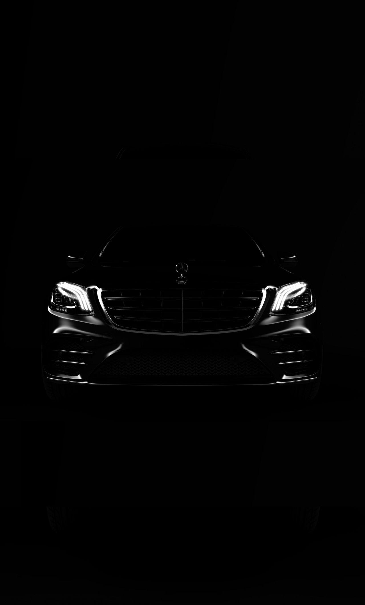 1280x2120 Portrait Dark Car Mercedes Benz Wallpaper S