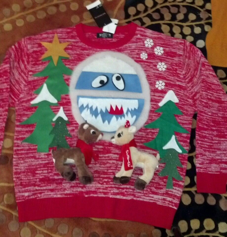 Ugly Christmas Sweater Rudolph Red Nose Reindeer CLARICE ...